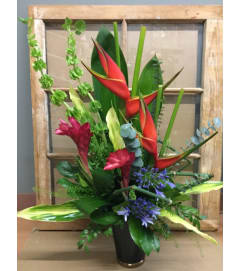 Lush Tropical Vase