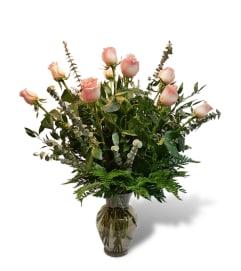 Premium Dozen Roses in Pink