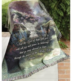 GARDEN OF HOPE- THOMAS KINKADE THROW