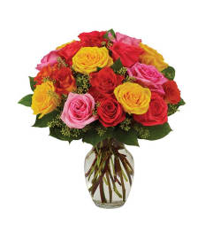 Assorted Rose Vase
