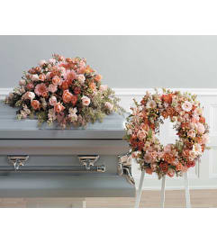 Peach Casket Spray  SF83-11