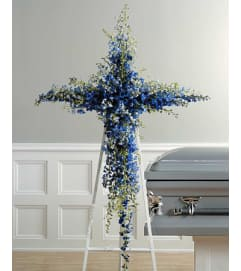 Blue Delphinium Cross  SF26-21