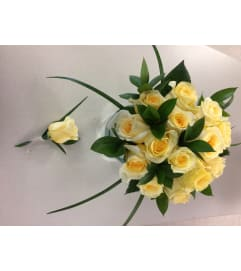 Bridesmaid Yellow Rose Bouquet Set