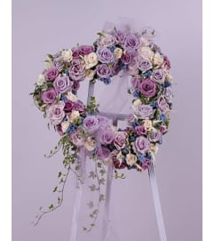 Lavender Rose Heart  SF42-11