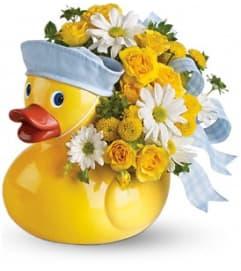 Teleflora's Ducky Delight Bouquet - Blue
