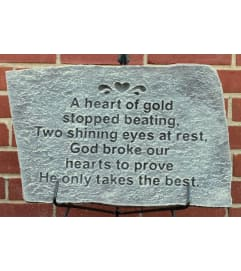 Garden Stone- A Heart of Gold
