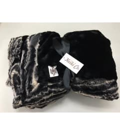 KEIKI COUTURE THROW BLACK MARBLE