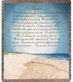 FOOTPRINTS IN THE SAND THROW