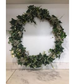 Ivy and Statice Wreath