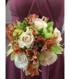 HANDTIED BOUQUET OF MUTED FLOWERS