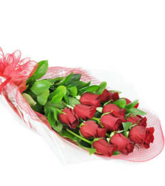 Perfect Wrapped Long-Stemmed Red Roses