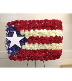 Sympathy Flag Arrangement