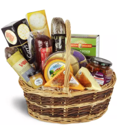 Gourmet Meat and Cheese Basket