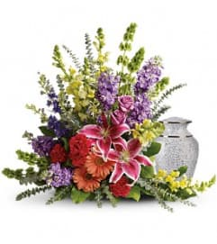 Vivid Faith Urn Arrangement