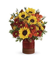 Teleflora - Sunshine Crock Pot Bqt