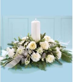 Winter Garden Candle Centerpiece