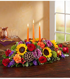 AUTUMN GARDEN CENTERPIECE