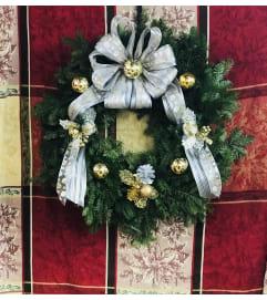 Silver & Gold Stunning Balsam Wreath