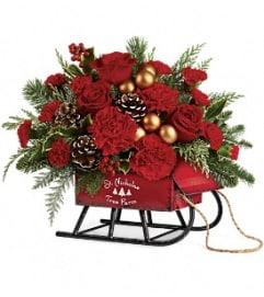 Vintage Sleigh Bouquet
