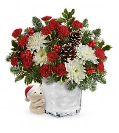 Huggy Bear Christmas Bouquet