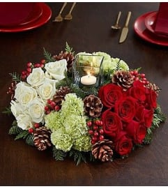Round Christmas Centerpiece