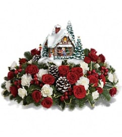 Thomas Kinkade's A Kiss For Santa Bouquet