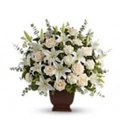 Loving Lilies and Roses Bouquet - by Jennifer's Flowers & Gifts