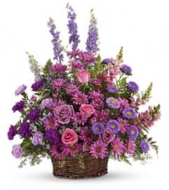 Gracious Lavender Basket - by Jennifer's Flowers