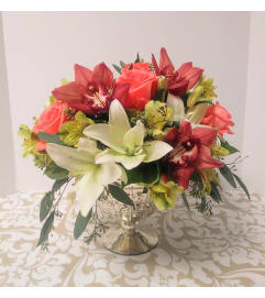 Lilies & Roses Centerpiece
