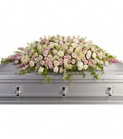 Always Adored Casket Spray - by Jennifer's Flowers
