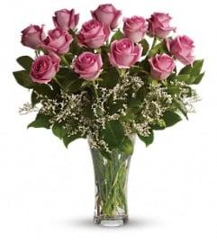 Make Me Blush - Dozen Pink Roses