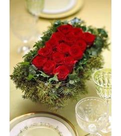 Christmas Rose Centerpiece