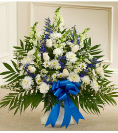 Blue and White Floor Basket
