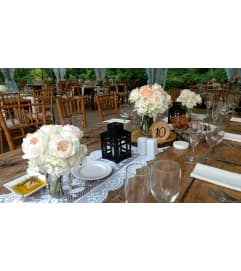 CUSTOM ASSORTMENT OF RUSTIC CENTERPIECES