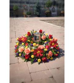 Summer Sun Urn Wreath