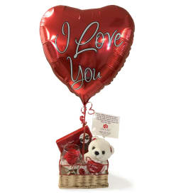 I Love You Forever Rose Bundle Basket