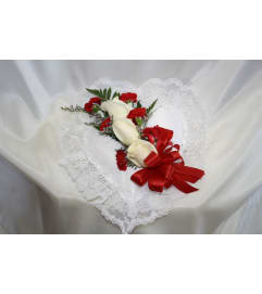 Satin Heart for Inside Casket