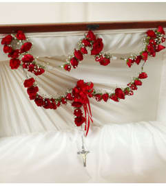 Spray Roses Large Rosary with Red