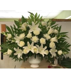 White Glory Sympathy Arrangement