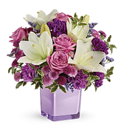 Teleflora - Pleasing Purple Bqt