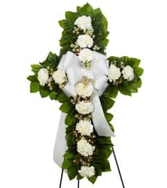 White Standing Cross