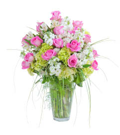Pink and White  Elegance Vase