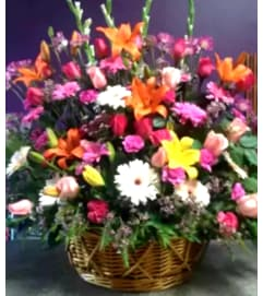 Colorful Floral Basket #2