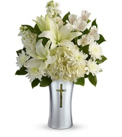 Sacred Cross Vase in White
