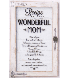 Recipe for a Wonderful Mom' Wall Art