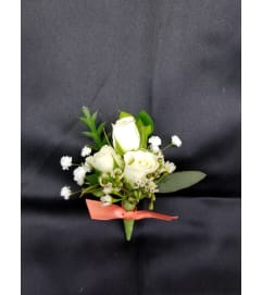 Modern Spray Rose Boutonniere