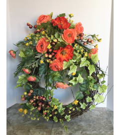 Florist's Choice Grapevine Wreath