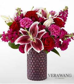 Vibrant Fuchsia Bouquet by Vera Wang