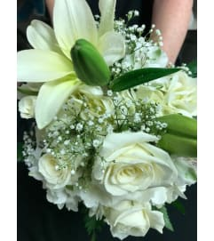 White Hand Tied Bouquet *PLEASE CALL TO ORDER*