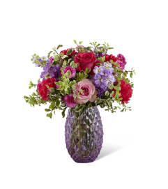 Purple Textured Vase